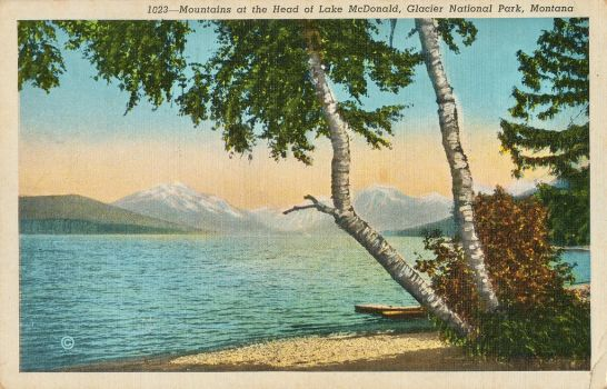 Vintage Montana - Lake McDonald by Yesterdays-Paper