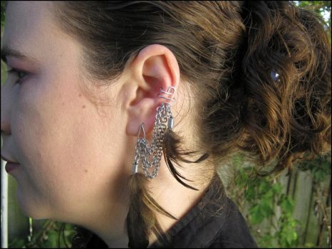 Feather Ear cuff by immortaldesigns