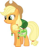 Applejack with camping gear by Synthrid