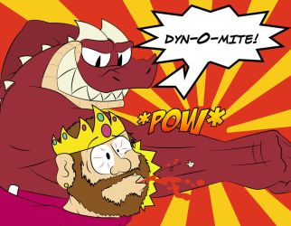 Benny Punches King Stan in the Face Really Hard by thezombiedragon