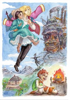 Howl's moving castle by MadocaArt