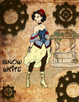 Steampunk Snow White by noodlenini