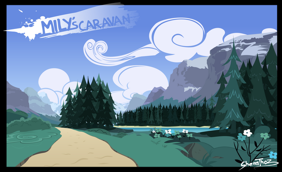 Mily's caravan background dia by SheraThoz