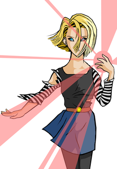 Android 18 by RinskeR