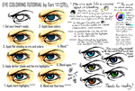 Eye Coloring Tutorial by Wolframclaws