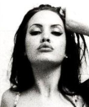 black and white angelina jolie by therealclone