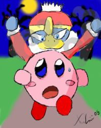 Kirby on the run by Lechuckie