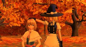 [MMD] Alice and Marisa by UrielFerneschola