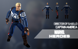Marvel Heroes: Captain America(Director of SHIELD) by Citrus07