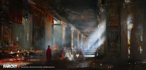 FarCry4 Concept Art - Temple Inside by Donglu