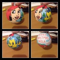 Ariel Little Mermaid christmas decorations by nicitadesigns