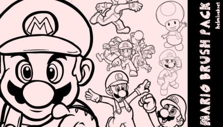super mario brushes PS by HelmiSakset