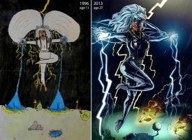 Storm before(1996) and after(2013) by krisagon