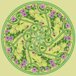 Green and Pink Celtic Knot Swirl by LorraineKelly