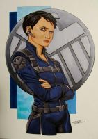 Maria Hill by KidNotorious