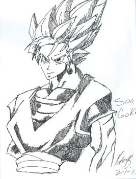 SSJ Vegito by SesshosGirl