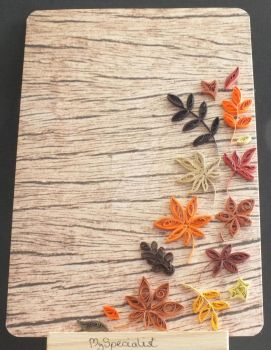 Quilled Autumn Leaves by MySpecialist