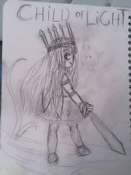 sketch :  fanart child of light by sirisse
