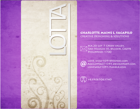 Business Card by AqCLotta071091