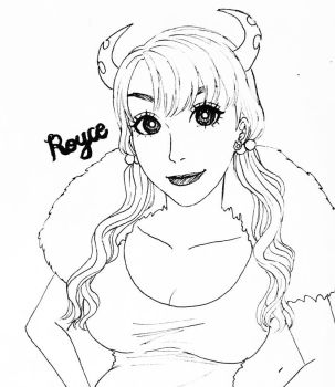 Lineart of Royce by MikaLinCow