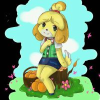 Isabelle - Animal Crossing New Leaf by Samikleo
