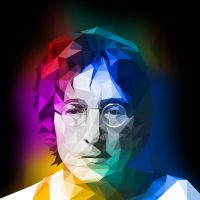 John Lennon Low Poly by coddih