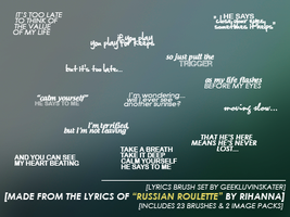Song Lyrics Brush Set 03 by geekluvinskater