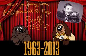 Happy Golden Anniversary to Jimmy Dean and Rowlf by AverageJoeArtwork