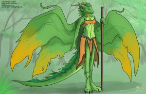 [Character Design]  Lilith the Nature Dragon by Ulario