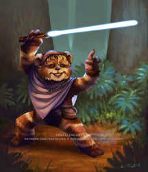 Ewok Jedi by SpacelingArt