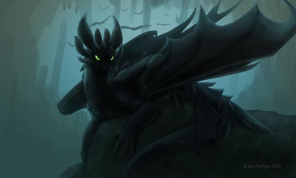 A Wild Toothless! 8O by JazzTheTiger