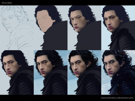 Kylo Ren - Digital Painting WIP steps by Sheridan-J