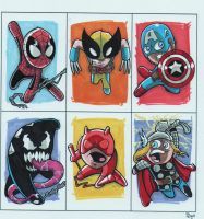 CHIBI SKETCH CARD PRACTICE by JUANPUIS