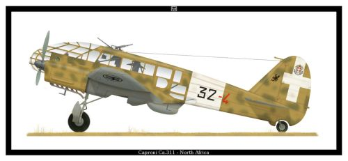 Caproni Ca.311 by PsykoHilly
