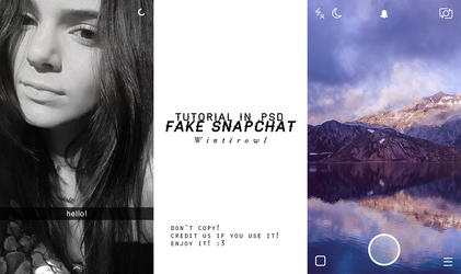 [PSD] fake snapchat tutorial   Winterowl by taxitoheaven