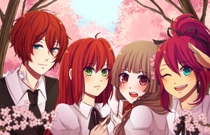 EE: 3 Redheads and a Goddess by ayaring