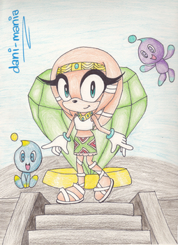 Tikal and her Chao UPDATED by dani-mania