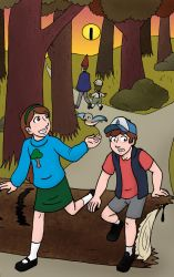 Over The Gravity Falls by BatNeko