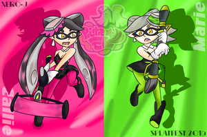 Splatfest '16-7: Callie vs Marie by Xero-J