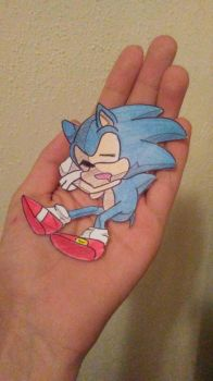 Classic Sonic Paperchild by ChibiAsh07