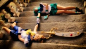 Sailor Uranus and Sailor Neptune die by ValentinaEarnshaw