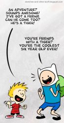 AT with Finn and Calvin by dalf-rules