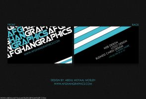 Afghan Graphics Business Card by AbdulMotaalMosleh