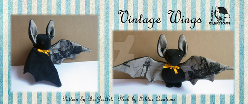 Vintage Wings Bat Plush by Ishtar-Creations