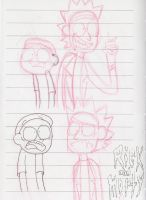 Rick and Morty Sketches by Fuzzydice07