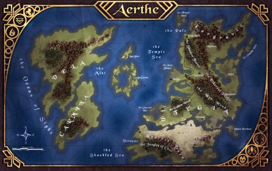 Aerthe Map by Ultragriffy