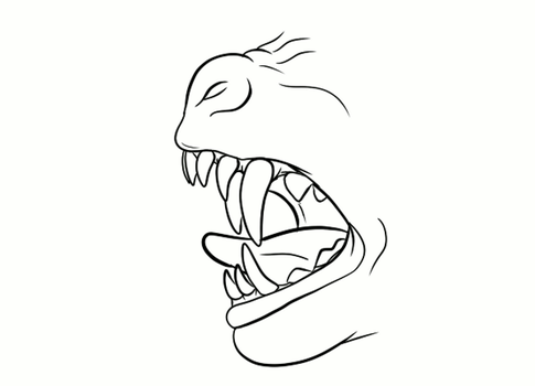 Werewolf Muzzle Formation (Animated) by DanteVergilLoverAR