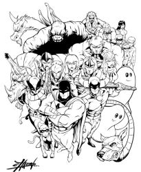 70s and 80s SuperHeroes Inks by DCON