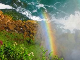 Rainbow at the Falls by Michies-Photographyy