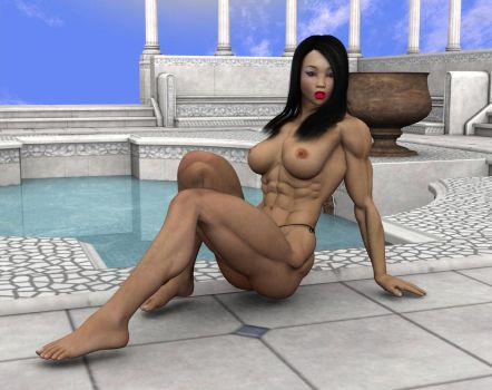 AF:  Lin's Pool Photo Shoot 4 by vince3